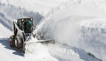snow plow road